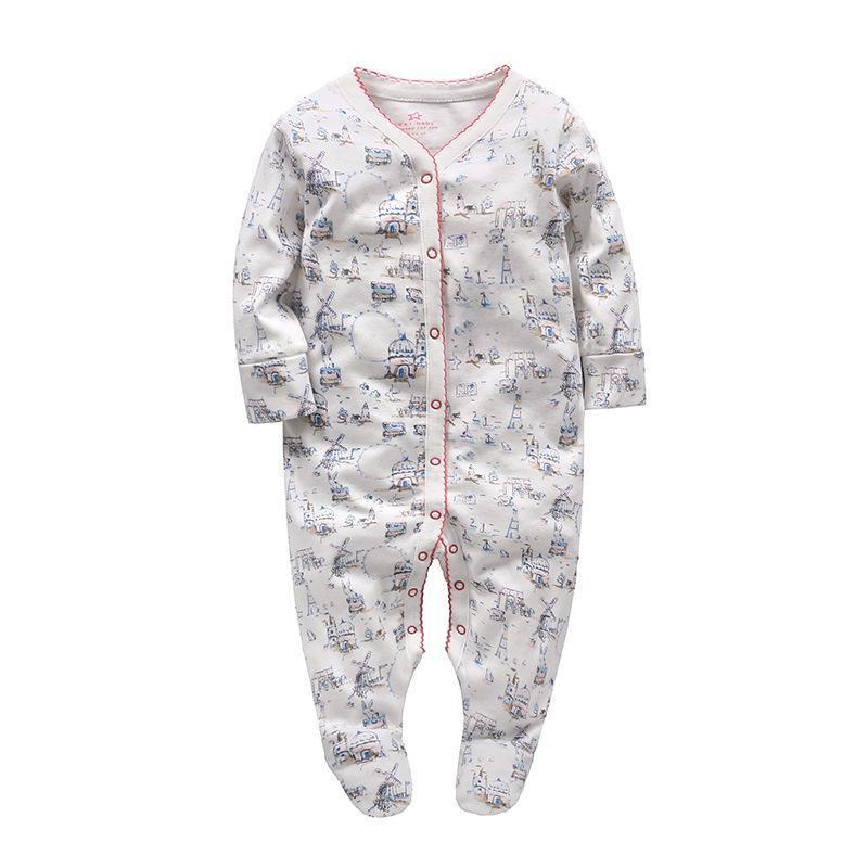 a2ca26da8 New Born Baby Sleepsuit Long Sleeves Boy Girl-Bunnies & Windmills