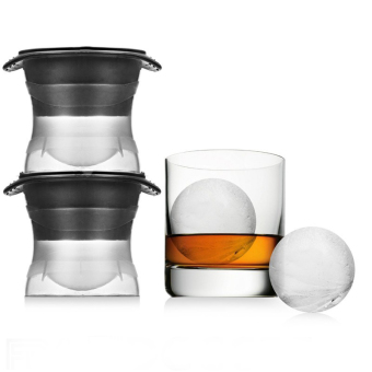 Creative spherical whiskey ice large hockey silicone ice Mold