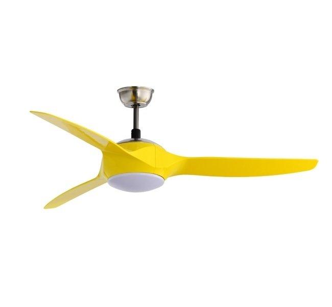 Yellow Ceiling Fan: ,Lighting