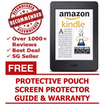 Amazon Kindle 8th Gen 2016 + Kindle Protective Pouch + Screen Protector (USA/Special Offers) - Black