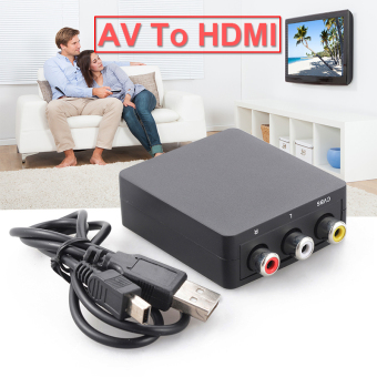 AV to HDMI Converter Mini Composite AV CVBS 3RCA to HDMI VideoAdapter AC403