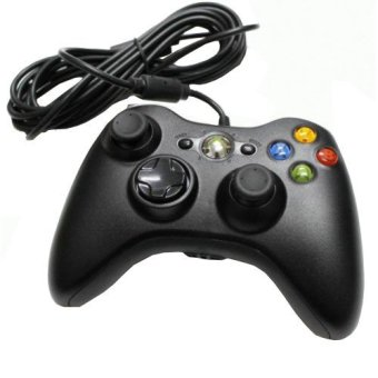 Black Wired USB Cable Controller for Microsoft Xbox 360 Console PC Computer Video Game(Export)