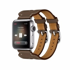 Iwatch 38mm Soft Pink Intl Soft Silicone Strap for Apple Watch Bluesky Modern Buckle Genuine Leather