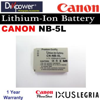 Canon NB-5L Lithium-ion Battery for Powershot IXUS Camera byDivipower