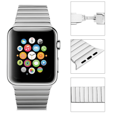 Excelvan Watch Band Replacement Stainless Steel For 38mm Apple Watch (silver)