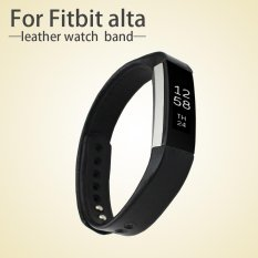 Genuine Leather Band Strap (s Size) For Fitbit Alta - Black - Intl
