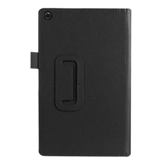 Leather Case Stand Cover For Amazon Fire HD 8 Tablet Black - intl