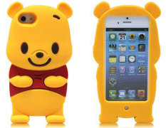 ... Leegoal Yellow Winnie The Pooh Bear Soft Silicone Case Cover For IPhone 5 5S intl