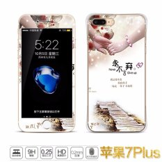 Luxury 3D Painting Front+Back Full Case Cover Color Tempered Glass Case For Apple iPhone