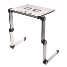 portable foldable laptop notebook desk table stand bed tray 2 fan