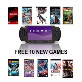 PSP 3000 RED Color (Pre-Owned) + FREE 10 Games