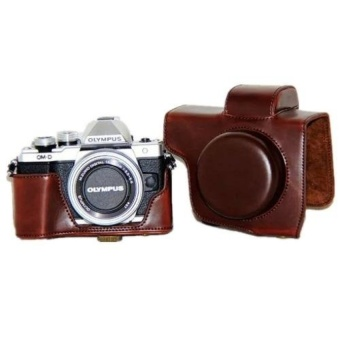 PU Leather Camera case cover for Olympus E-M10 Mark II - intl