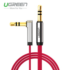 UGREEN 3.5mm Auxiliary Stereo Audio Cable 90 Degree Right Angle (1m) Red -