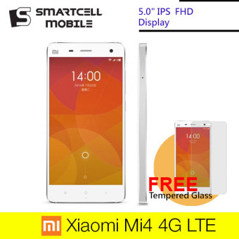 Xiaomi Mi4 Mi 4 16GB 4G LTE (White) Free Tempered Glass (Export)