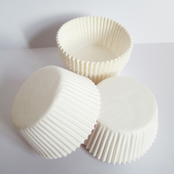 100 white baking paper pad paper cups cake paper cups