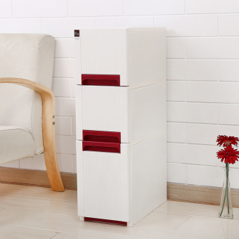 24cm plastic drawer-style bathroom storage cabinet