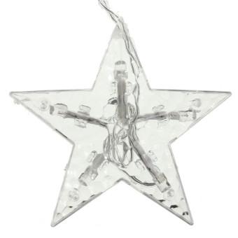 2M 168 LED Star String Fairy Light Wedding Xmas Window Curtain ...