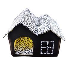 360DSC Soft Plush Luxury British Style Pet Puppy Dog Cat Villa House Bed Cage Nest with