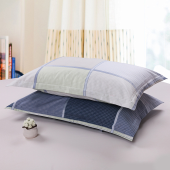 Cotton pillow cover single adult students simple striped couple cotton pillowcase pillow cover one pair