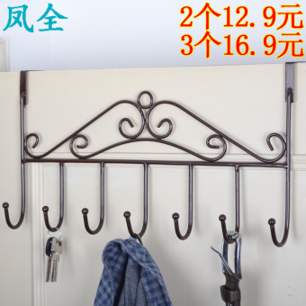 Creative door after hook glove rack seamless strong adhesive hook bathroom hanging clothes hook wall free nail clothes hanger rack