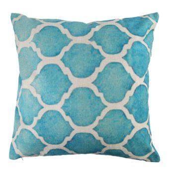 Creative Striped Pattern Cotton Pillow Cover(Blue) (EXPORT)