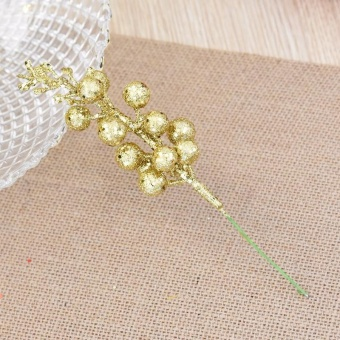 Diotem Imitation Berry Christmas decorations - Gold - intl