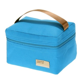 Insulated Thermal Cooler Bento Lunch Box (Blue) - intl