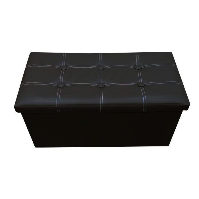 P01 Pu Foldable Storage Ottoman Large Black Lazada Singapore - P01 PU Foldable Storage Ottoman (Large) - Black - Singapore Best