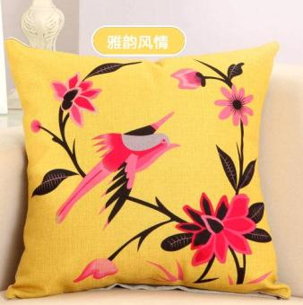 Style Southeast Asian flower pillow cover cushion pillow cover