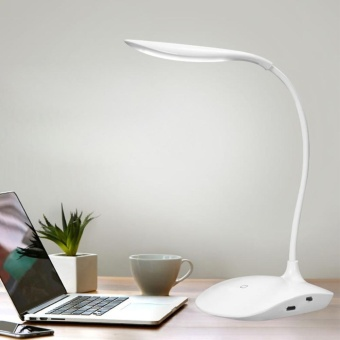 Sunshop Rechargeable Dimmable USB LED Table Desk Lamp Touch Sensor Reading Study Light Lamp - intl