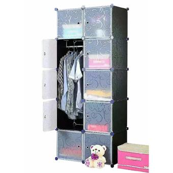 Tupper Cabinet Elegant Black 10 Cubes Classic Collection WardrobeOrganizer