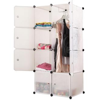 Tupper Cabinet Elegant White 8 Cubes Beauty Collection WardrobeOrganizer