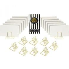 wire place card holder stands with white cards for weddings dinner parties table top