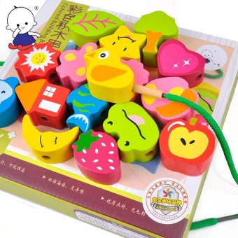 10 months in 2 year old large beaded diy beaded infant educational toys intellectual development 1-3 baby
