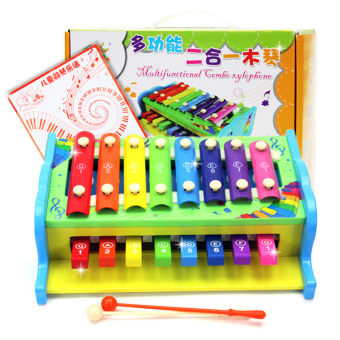 Baby children's two one xylophone hand knock piano