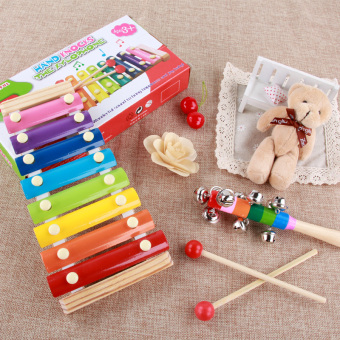 Baby eight sound educational hand knock piano percussion musicalinstrument small xylophone
