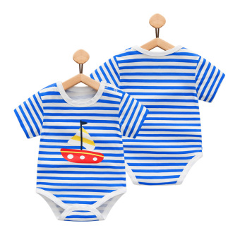 Cotton striped newborns crawling clothes baby romper