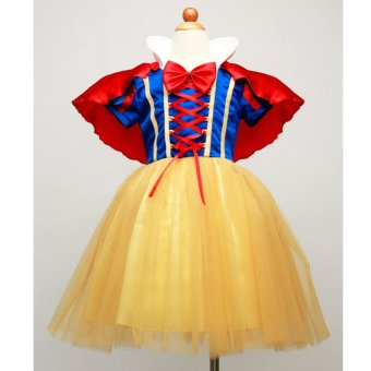 Girls' cute Santa Claus Snow White performance wear Christmas cosplay dress - intl