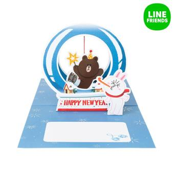 LINE FRIENDS popupcard5_HAPPY NEW YEAR