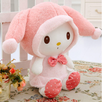 Melody cute large rabbit doll plush toy rabbit