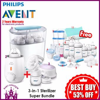 Philips Avent 3-in-1 Sterilizer Super Bundle