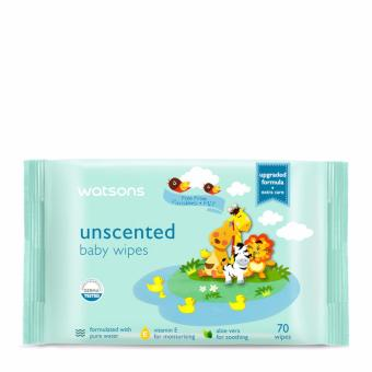 Watsons Unscented Baby Wipes 70's