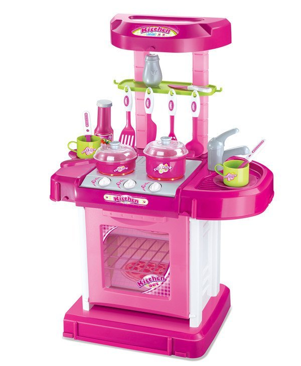 Kitchen Set Lazada: Xiong Cheng 008-58A Prince Kitchen Play Set Red