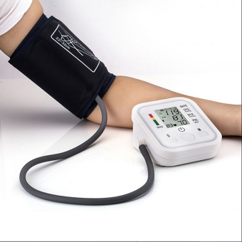 Arm Cuff LCD Digital Blood Pressure Pulse Monitor 1 Set HighQuality - intl