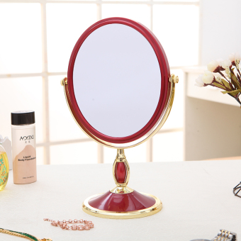 Desktop 8-inch double-sided mirror European dresser enlarge mirror portable dressing princess mirror portable cosmetic mirror