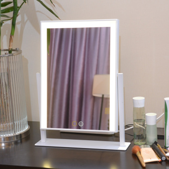Desktop large square mirror professional with Light Mirror LED dressing mirror can be mobile portable-beauty mirror