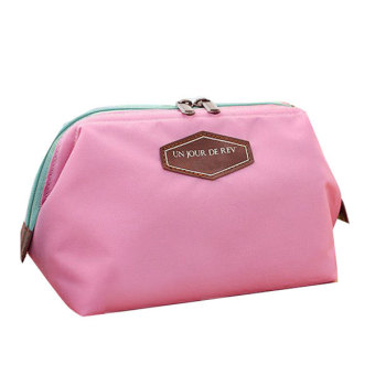 Portable Travel Wash Makeup Bag Cosmetic Pouch Clutch Organizer (Pink)
