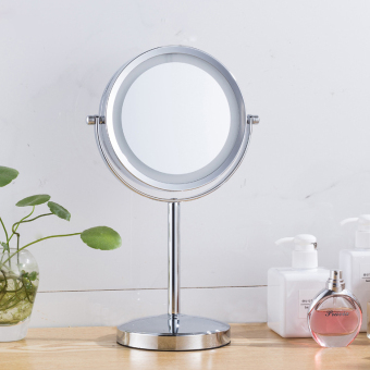 Tata house desktop LED makeup mirror 304 does not rust steel European mirror wedding princess mirror enlarge double-sided vanity mirror
