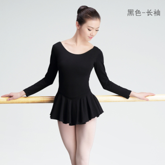 Adult female long-sleeved ballet dress short-sleeved body suit Dance clothes and