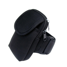 Cycling Sports Running Cell Phone Arm Band Bag Wrist Pouch Key Package Black